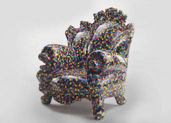 proust miniature in ceramic by alessandro mendini
