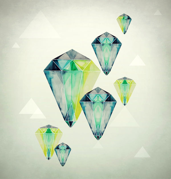 Watercolor Crystals by Eika Dopludo