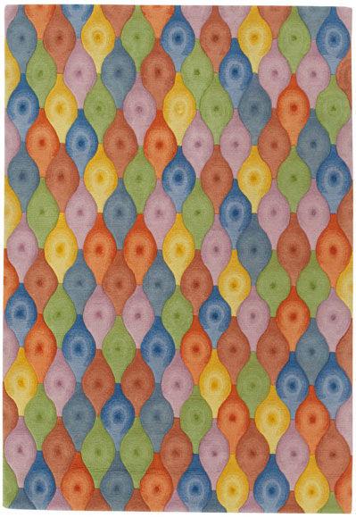 Dimpled Spindle by Eva Zeisel   Tibetan Wool Rug