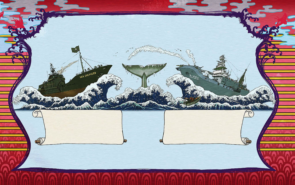 "Flickr Photo Download: ""Whale Wars"" whale meat tin design - back"