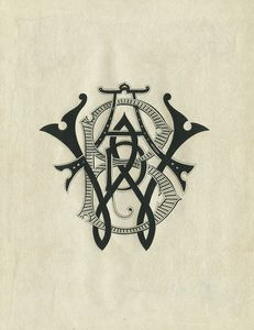 Flickr Photo Download: [Bookplate of A.W.B.(?)]