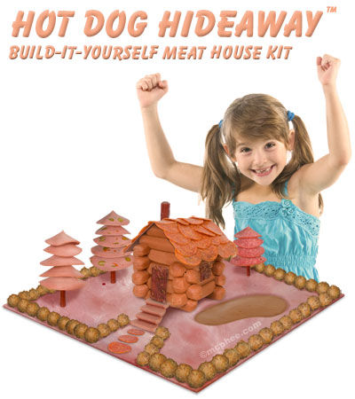 Hot Dog Hide-Away Build-It-Yourself Meat House Kit - Archie McPhee