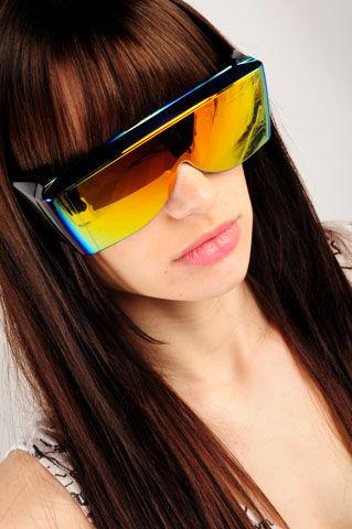 Testarossa Safety Shades - Orange Mirrored - NASTY GAL - Vintage Clothing, 80s Vintage Clothes, Vintage Sunglasses, Vintage Dresses!