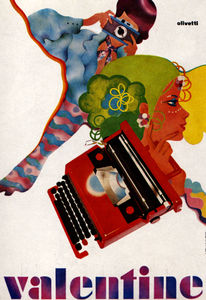 Flickr Photo Download: 1960s Advertising - Poster - Olivetti Valentine 2 (Italy)