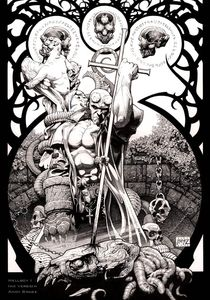 Hellboy- Cross to the Head- Ink, in Andy?Brase's Hellboy, Nightmare,