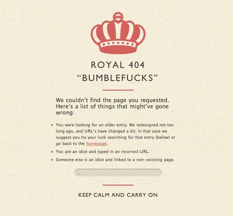 Maxvoltar 404 page design - Pattern Tap