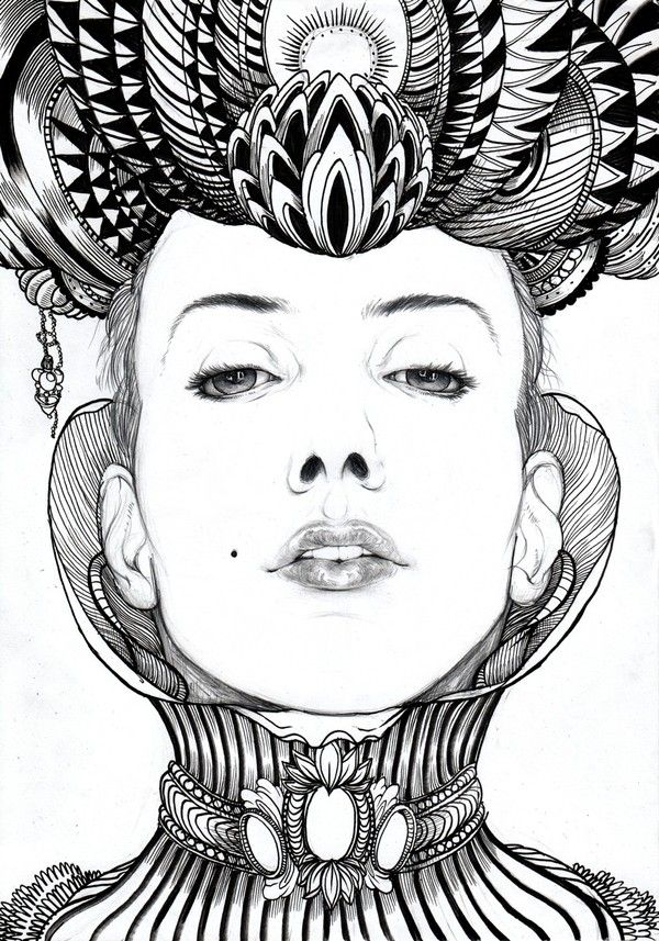 portrait drawing part 2 on the Behance Network