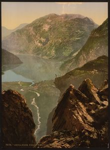 Flickr Photo Download: [General view towards Merok, Geiranger Fjord, Norway] (LOC)