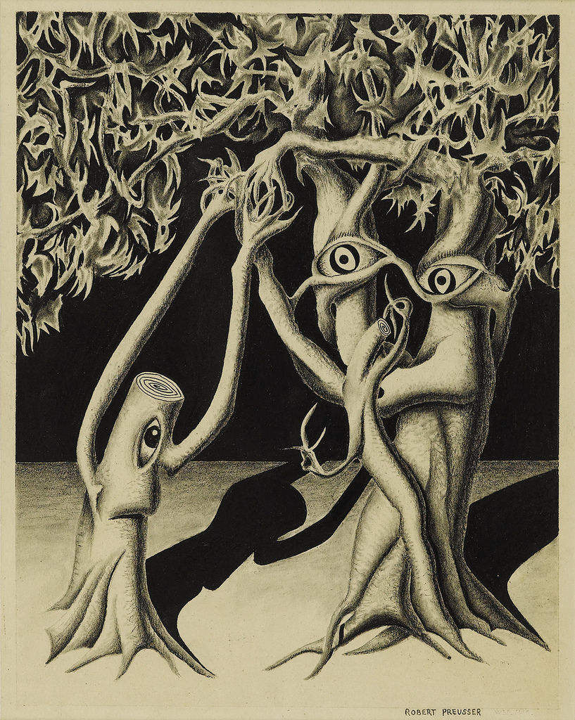 Flickr Photo Download: Robert Preusser (1919-1992). Tree Animals, 1947