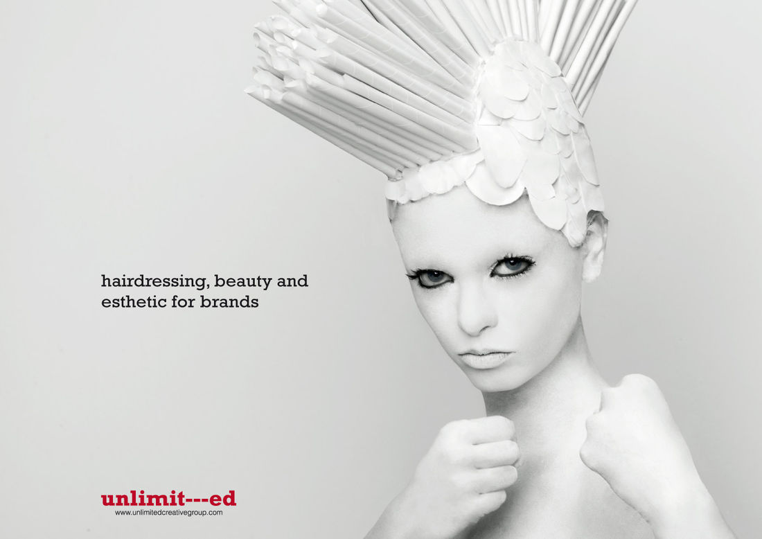 """""""Girl 1"""" print ad for ADVERTISING AGENCY in Spain by Unlimited Creative Group"""