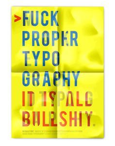 Make good typography on the Behance Network