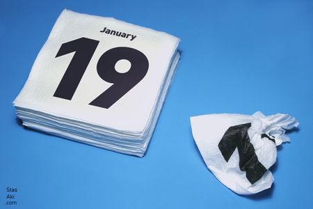 Napkins Calendar 2009 : Stas Aki's