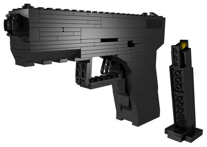 BrickGun - Semi-auto Pistol with Magazine