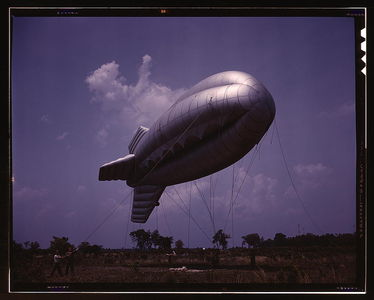 Flickr Photo Download: Parris Island, S.C., barrage balloon (LOC)