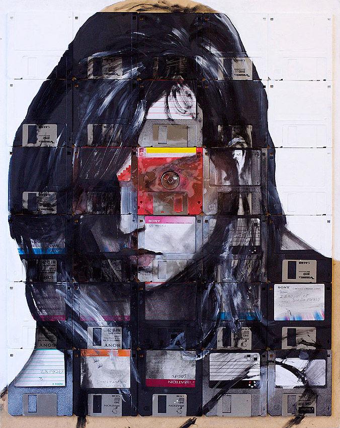 Designaside » Nick Gentry – Pittura su Floppy