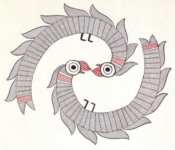 Flickr Photo Download: Ganga Devi, Latpatia suga, entwined parrots motif, 1988-89