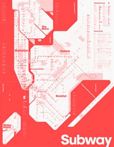 One Color Subway Map « Thinking for a Living