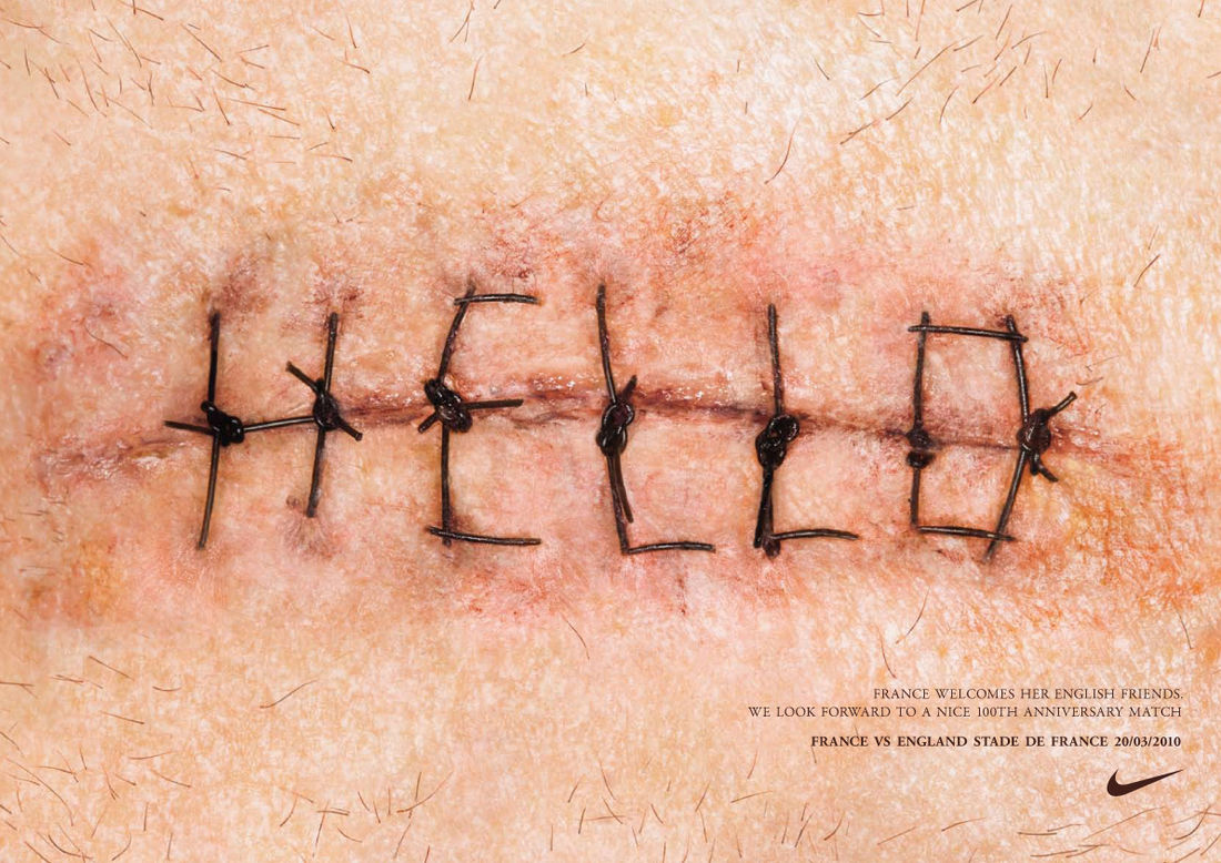 """Rugby Hello"" print ad for NIKE in Netherlands by WIEDEN"