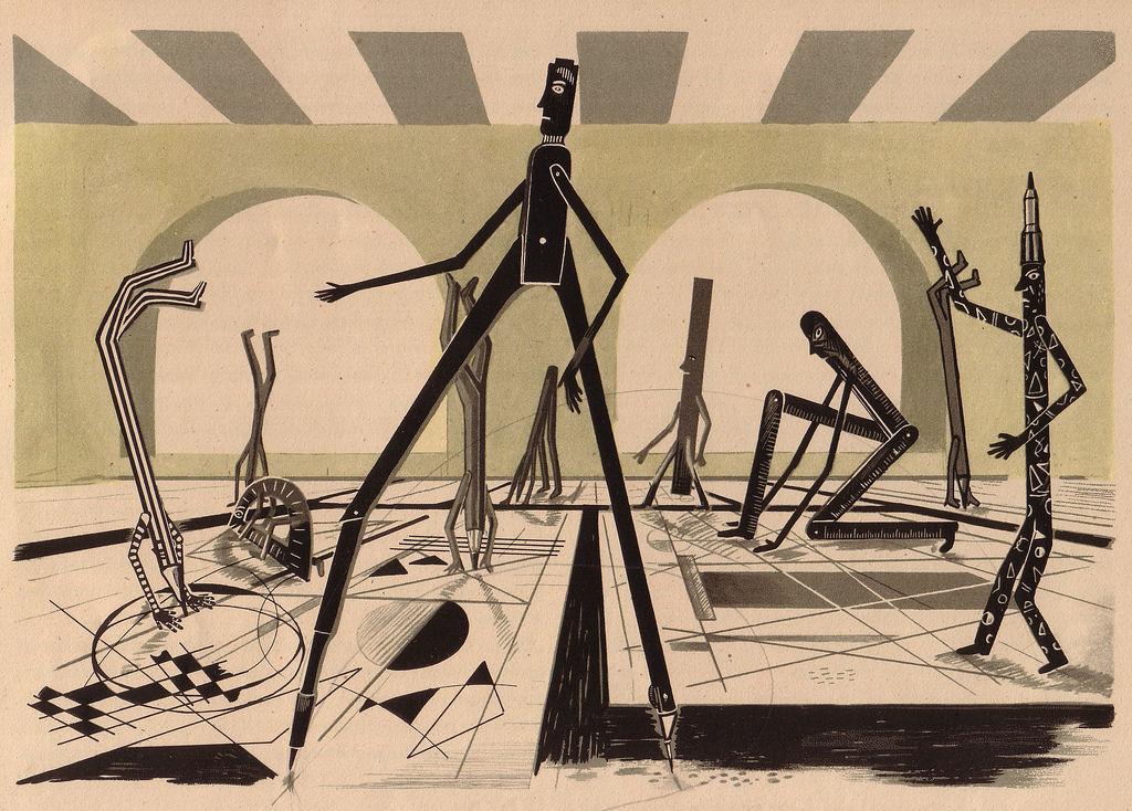 Flickr Photo Download: 02 Illus. by Heinz Kiessling for Malbuchgeschichten by Ilse Firbas Germany, 1949