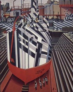 Flickr Photo Download: Edward Wadsworth, Dazzle-ships in Drydock at Liverpool, 1919