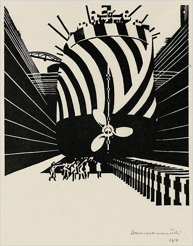 Flickr Photo Download: Edward Wadsworth, Rhythms of Modern Life, 1918