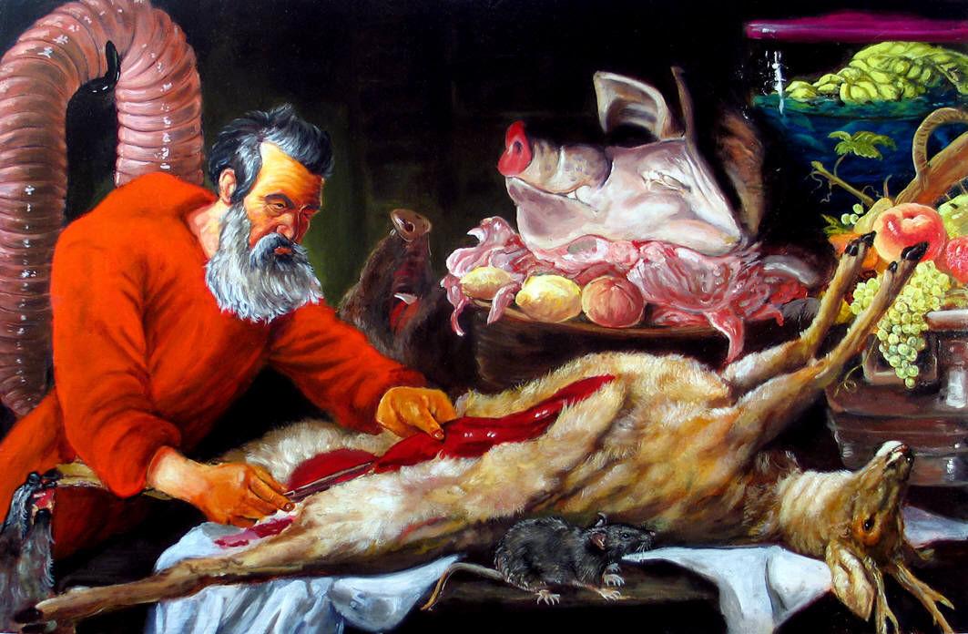 Joe Becker artwork presented by Christopher Cutts Gallery