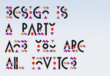Confetti Type :: Typography Served