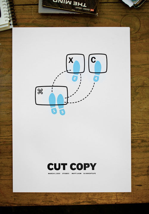 Justin David Cox: Cut Copy poster Monoscope