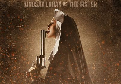Lindsay Lohan Photo - Lindsay Lohan Is a Gun-Licking Nun in New 'Machete' Poster - Celebuzz