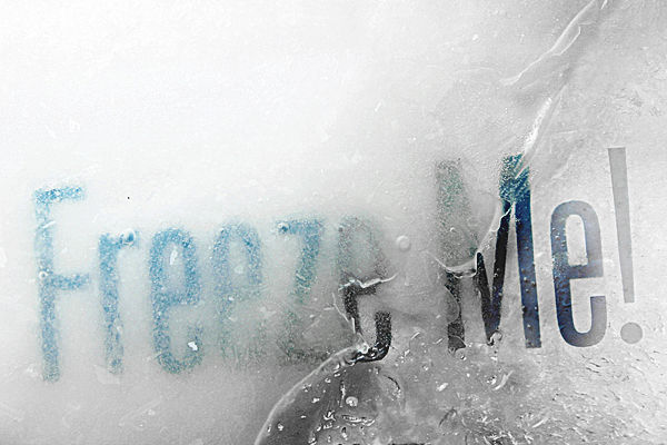 Typography in Ice on the Behance Network