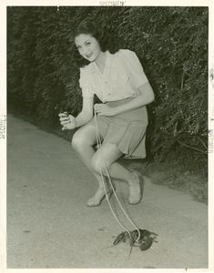All available sizes | Evonne Kummer with lobster at NY World Fair (via nypl) | Flickr - Photo Sharing!