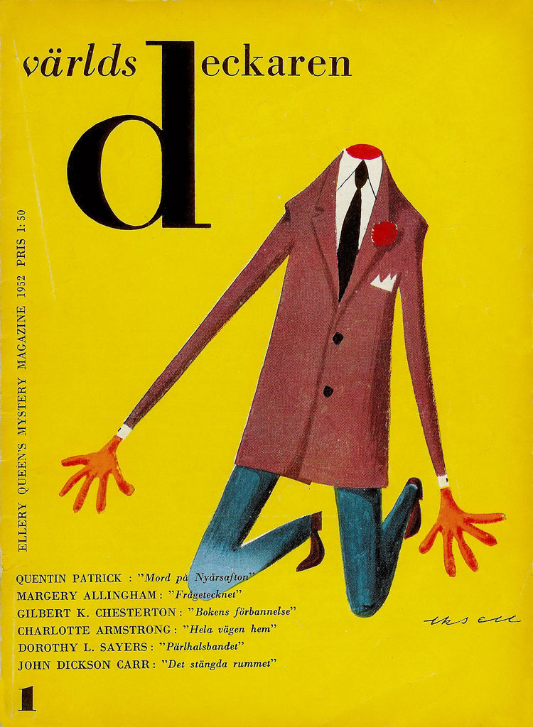 All available sizes | 09 Olle Eksell, book cover, 1952 Världsdeckaren n.1 (Swedish edition of the Ellery Queen's Mystery Magazine) | Flickr - Photo Sharing!