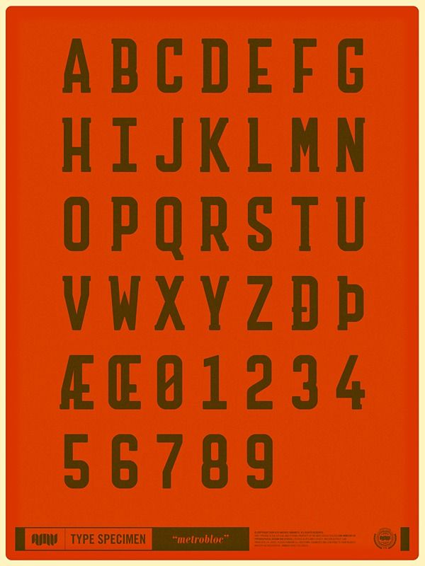 Original Typefaces on the Behance Network