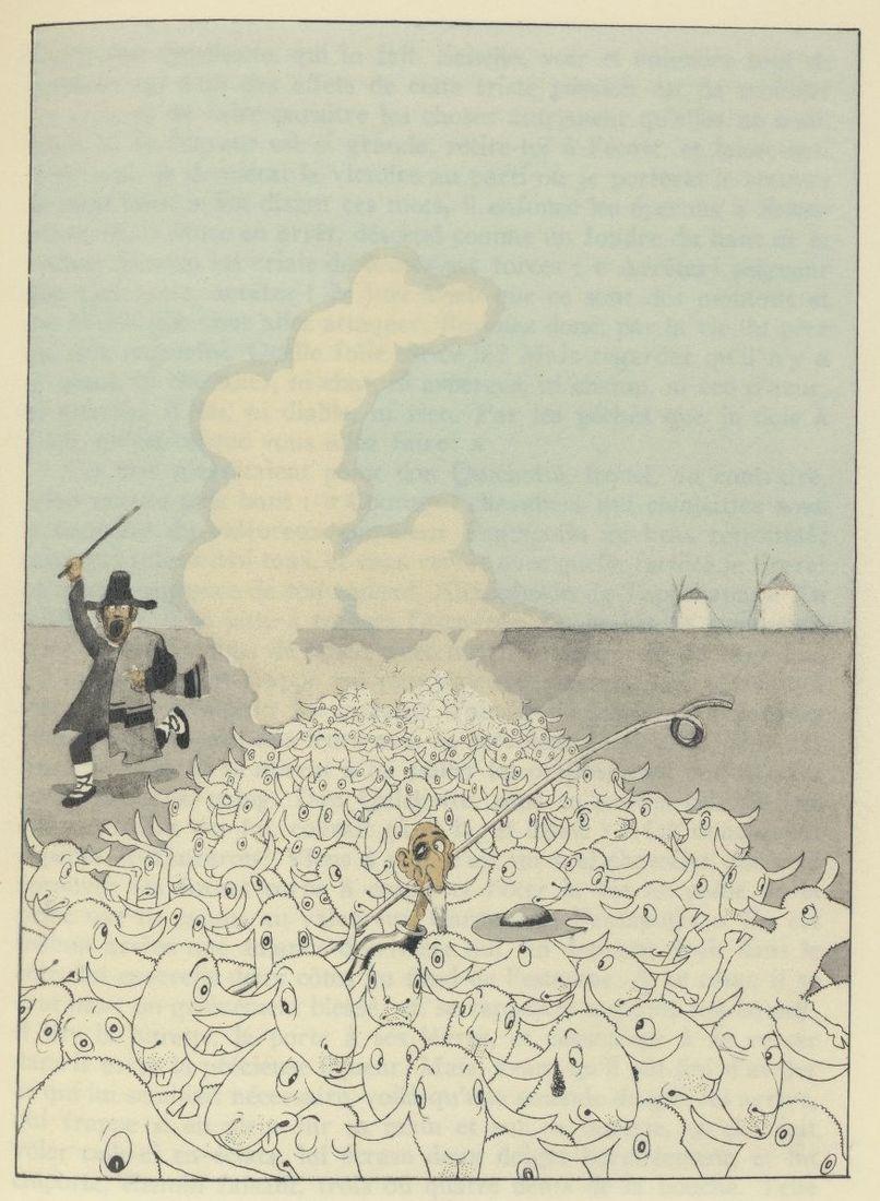 All sizes   15 Albert Dubout, illus. for L'Ingenieux Hidalgo Don Quichotte de la Manche, 1938   Flickr - Photo Sharing!