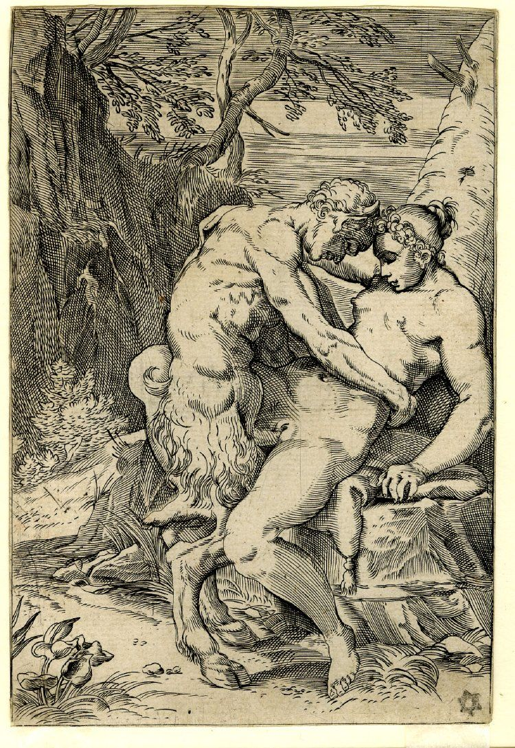 Flickr Photo Download: A satyr and nymph embracing each other, having intercourse