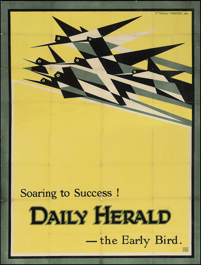 Toutes les tailles | Soaring To Success! The Daily Herald - the Early Bird by E McKnight Kauffer, 1918 | Flickr: partage de photos!