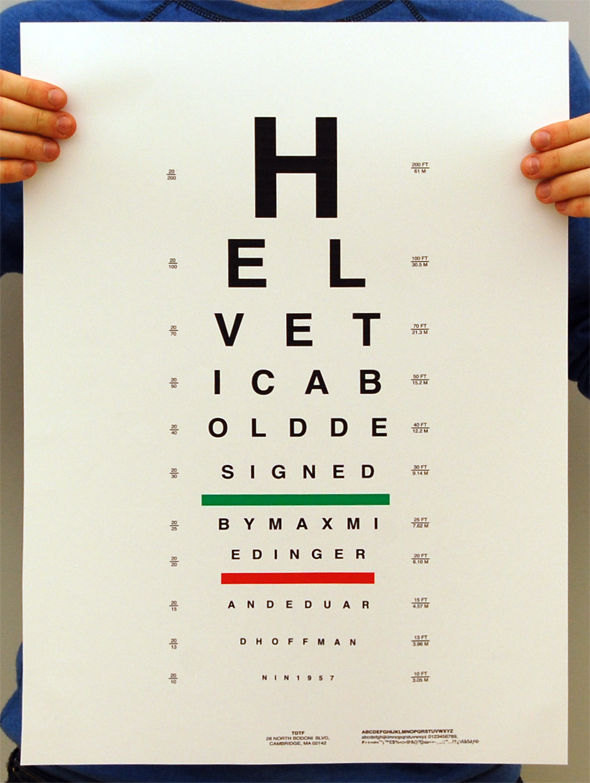 Type Specimen Vision Testing on Typography Served