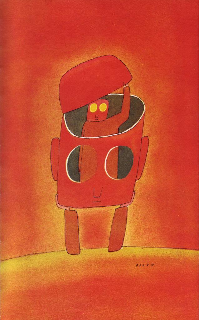 All sizes  01 Lhomme et son esprit, illus. Folon Le Livre de Sante, v.9, 1967  Flickr - Photo Sharing