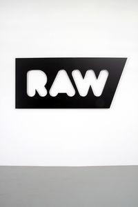 Christian Robert-Tissot :: 2010, sans titre, acier thermolaqu? noir, 90 x 200cm, ?dition de 3 exemplaires