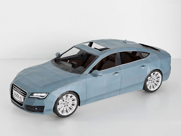 2012 Audi A7 - Papercraft on the Behance Network