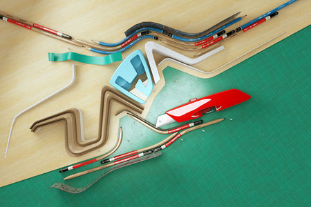 Architectural 3D type on the Behance Network