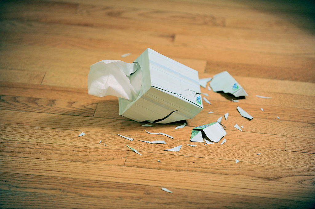 Flickr Photo Download: Shattered tissue box