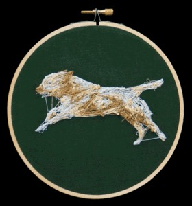 An Animated Embroidered Dog | Colossal