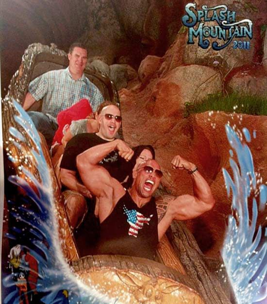 The Rock smuggles guns onto Splash Mountain in Disney. - Imgur