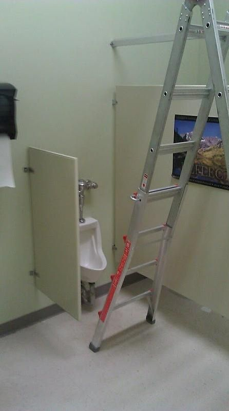 Handyman at work left this in the bathroom. Challenge accepted. - Imgur