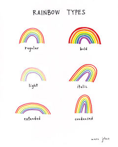 Marc Johns: rainbow types