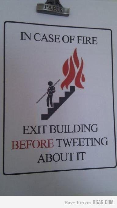 9GAG - In case of fire