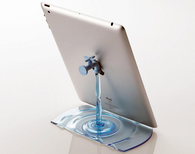 nendo: faucet stand for elecom