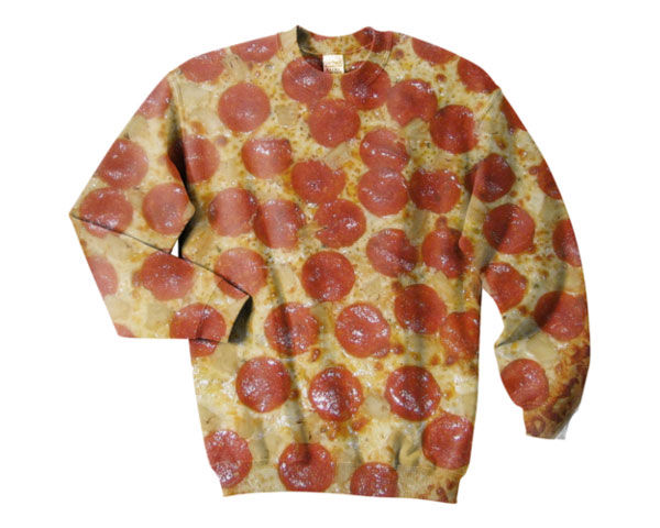 Photorealistic Pepperoni Pizza Sweater | Foodbeast