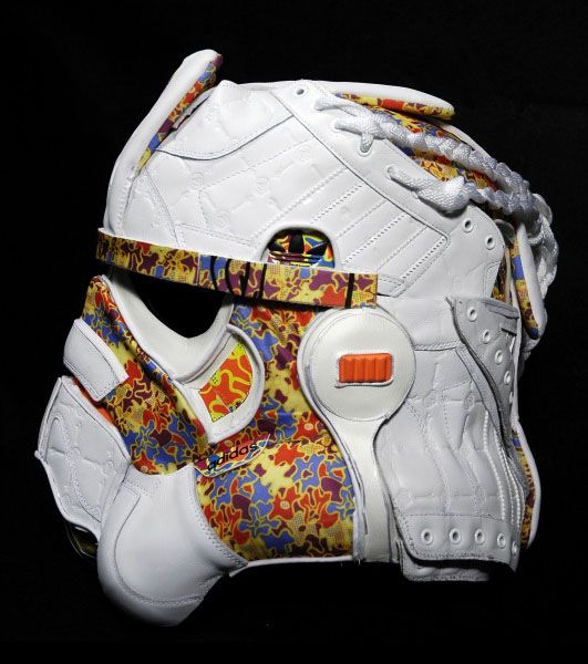 Juxtapoz Magazine - Stormtrooper Helmet Made of Adidas Sneakers  Current